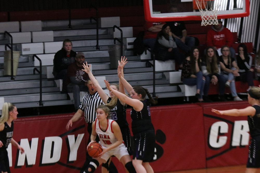 Alma Cardinals dominated Axtell Wildcats (sub district girls basketball)