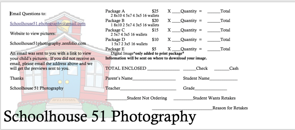Picture order form